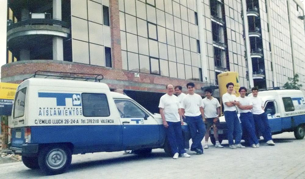 """""""Equipo de trabajo en 1988"""""""